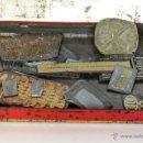 Antigüedades: 14 MOLDES O TROQUEL DE IMPRENTA ( ESCUDO SEVILLA, LLAVES, TELEVISOR, CAMARA FOTOS ETC..VER FOTOS). Lote 151247473
