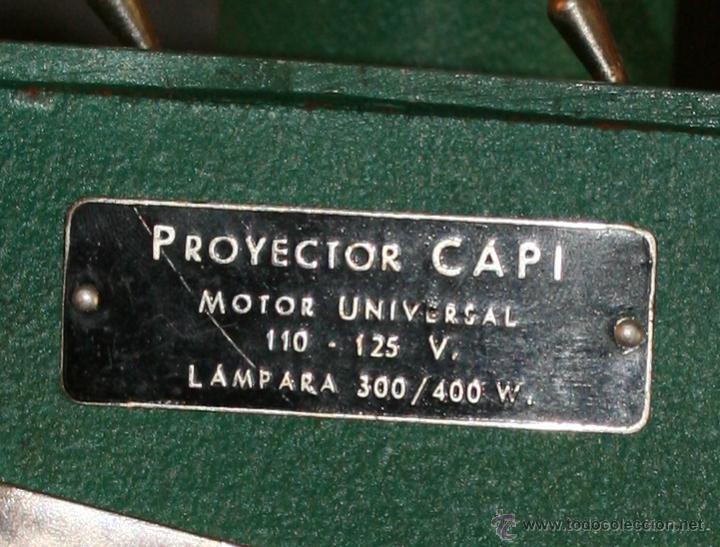 Antigüedades: Proyector de diapositivas CAPI AÑOS 50 - Foto 7 - 51407301