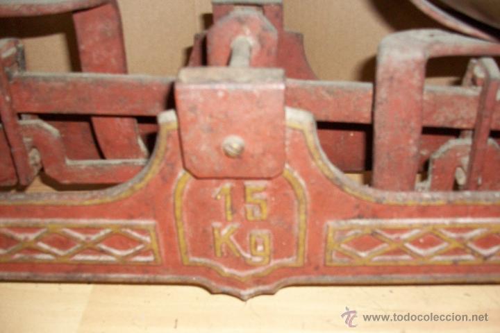 Antigüedades: ANTIGUA BALANZA ESPAÑOLA DE 15 KILOS - Foto 3 - 51463326