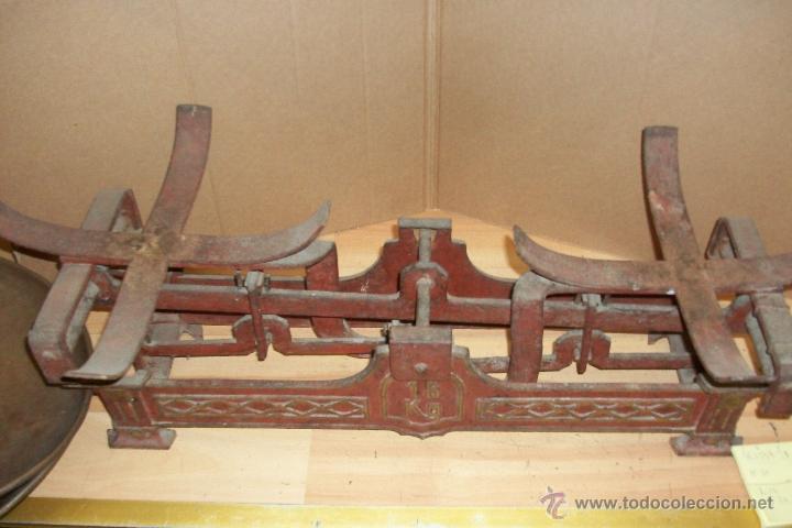 Antigüedades: ANTIGUA BALANZA ESPAÑOLA DE 15 KILOS - Foto 4 - 51463326