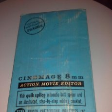 Antigüedades: MAQUINA DE CINE 8 MM H.D. HUDSON PHOTOGRAPHIC INDUSTRIES ACTION MOVIE EDITOR ORIGINAL PERFECTA. Lote 51463567