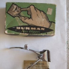 Antigüedades: MAQUINILLA PARA CORTAR EL PELO - BURMAN & SONS - INGLESA - CON CAJA E INSTRUCCIONES - VER FOTOS. Lote 51503162