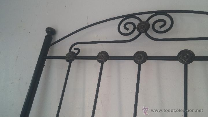 Antigüedades: Cabecero de forja para cama individual - Foto 2 - 51509672