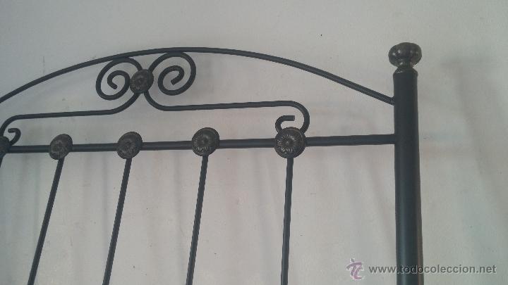 Antigüedades: Cabecero de forja para cama individual - Foto 3 - 51509672