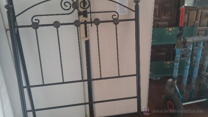 Antigüedades: Cabecero de forja para cama individual - Foto 9 - 51509672