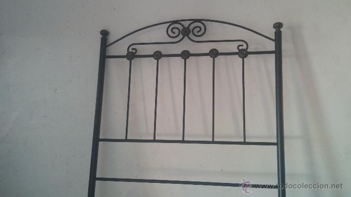 Antigüedades: Cabecero de forja para cama individual - Foto 10 - 51509672