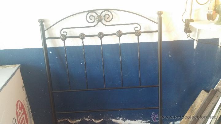 Antigüedades: Cabecero de forja para cama individual - Foto 12 - 51509672