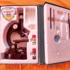 Antigüedades: MICROSCOPIO FAVILA B.B.I ZOOM 40X-900X. Lote 51525507