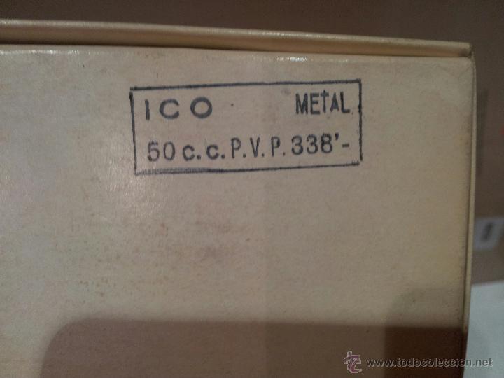 Antigüedades: jeringa de vidrio hispano ico s.a nueva en su envalaje perfecto estado 50cc ver fotos - Foto 2 - 51611134