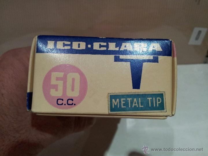 Antigüedades: jeringa de vidrio hispano ico s.a nueva en su envalaje perfecto estado 50cc ver fotos - Foto 3 - 51611134