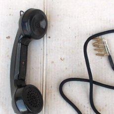 Teléfonos: AURICULAR DE TELEFONO GRABADO ANTIGUO, GRABADO 1963, CON CABLE FORRADO DE ALGODON, RECAMBIO , TEL365. Lote 126813407