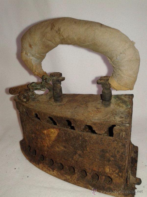 Antigüedades: ANTIGUA PLANCHA DE CARBÓN - Foto 2 - 51627093