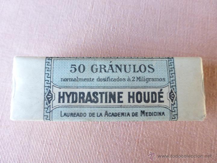Antigüedades: Antigua caja de medicamento hydrastine houde , en su caja y precintado - Foto 7 - 51628178