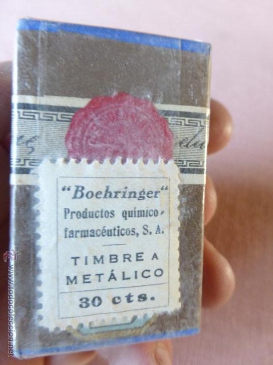 Antigüedades: Antigua caja de medicamento teobromina purisima , boehringer , en su caja y precintado - Foto 4 - 51628216