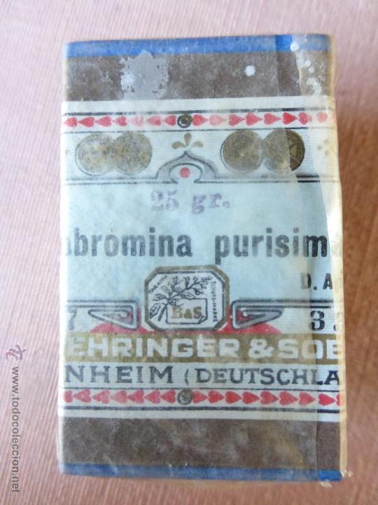 Antigüedades: Antigua caja de medicamento teobromina purisima , boehringer , en su caja y precintado - Foto 6 - 51628216