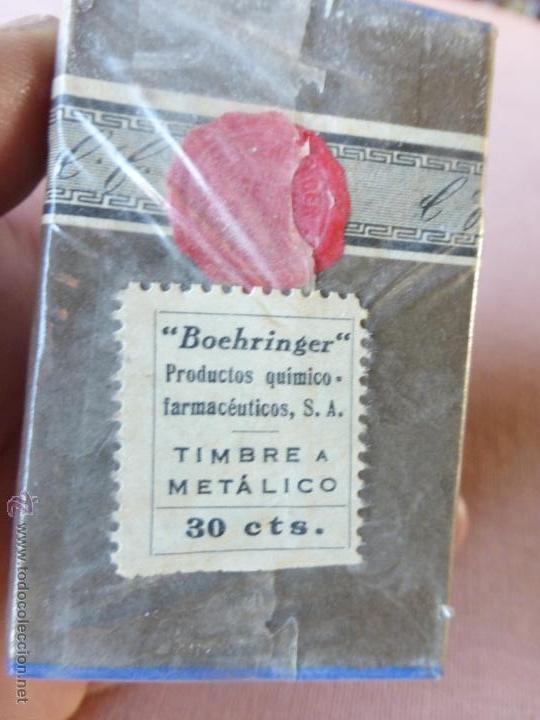 Antigüedades: Antigua caja de medicamento teobromina purisima , boehringer - en su caja y precintado - Foto 6 - 51628235