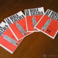 Antigüedades: 4 TOMOS LA REGLA DE CALCULO CURSO POR CORRESPONDENCIA 1967 ERATELE - SLIDE RULE. Lote 51726861