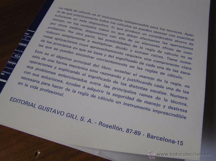 Antigüedades: LIBRO LA REGLA DE CALCULO MODERNA STENDER SCHUCHARDT 1971 SLIDE RULE RECHENSCHIEBER - Foto 10 - 51727412