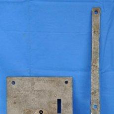 Antigüedades: CERRADURA ANTIGUA DE PORTÓN DE FORJA.. Lote 51744976