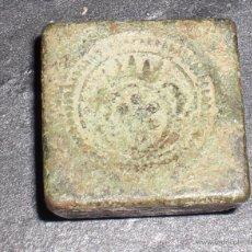 Antigüedades: ANTIGUO PONDERAL PARA 8 REALES. Lote 51750346