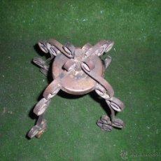 Antigüedades - Base en forja para hacer lámpara 15x15x26cm - 51763758