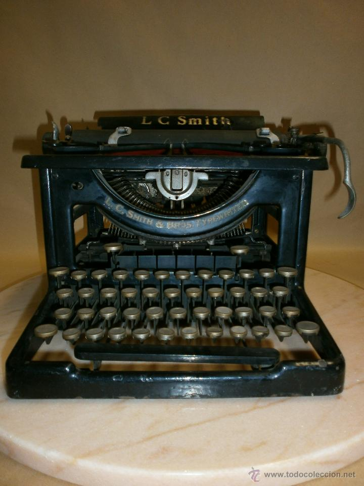 MÁQUINA DE ESCRIBIR L.C. SIMTH (Antigüedades - Técnicas - Máquinas de Escribir Antiguas - Smith)