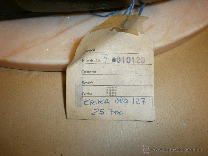 Antigüedades: Máquina de escribir Erika - Foto 6 - 51882445