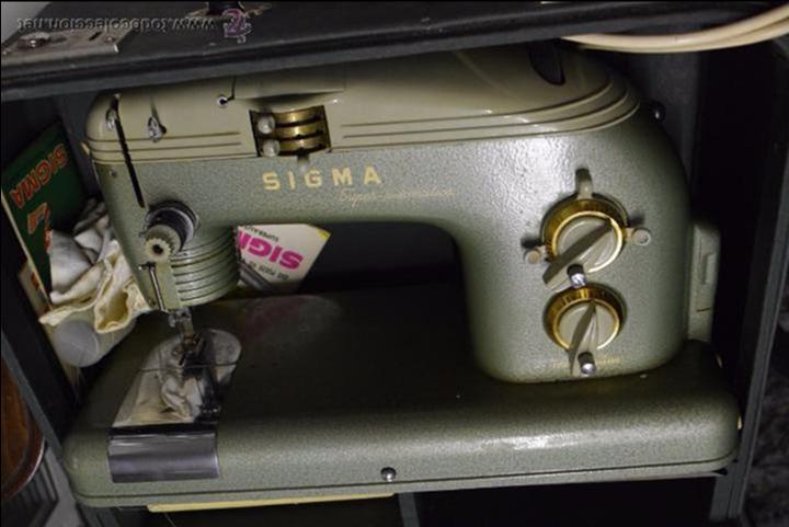 PRECIOSA Y FUNCIONANDO.SIGMA. (Antigüedades - Técnicas - Máquinas de Coser Antiguas - Sigma)