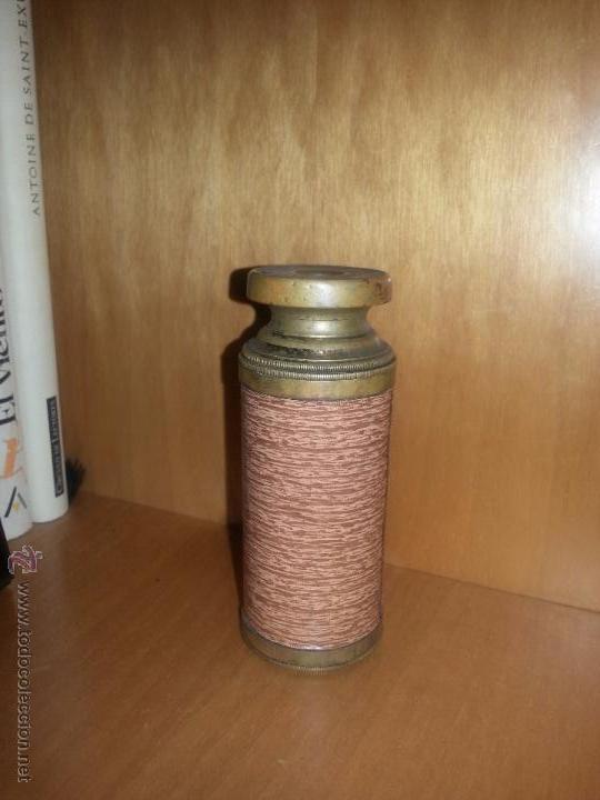 Antigüedades: antiguo catalejo pequeño de metal - Foto 4 - 51983698