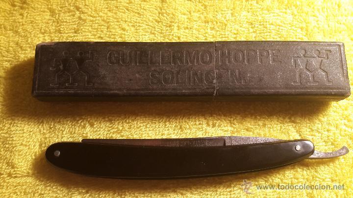 NAVAJA DE AFEITAR GUILLERMO HOPPE SOLINGEN (LOS GEMELOS) (Antigüedades - Técnicas - Barbería - Navajas Antiguas)