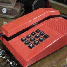 Teléfonos: TELEFONO TEIDE SOBREMESA ROJO NEGRO VINTAGE . Lote 52124042