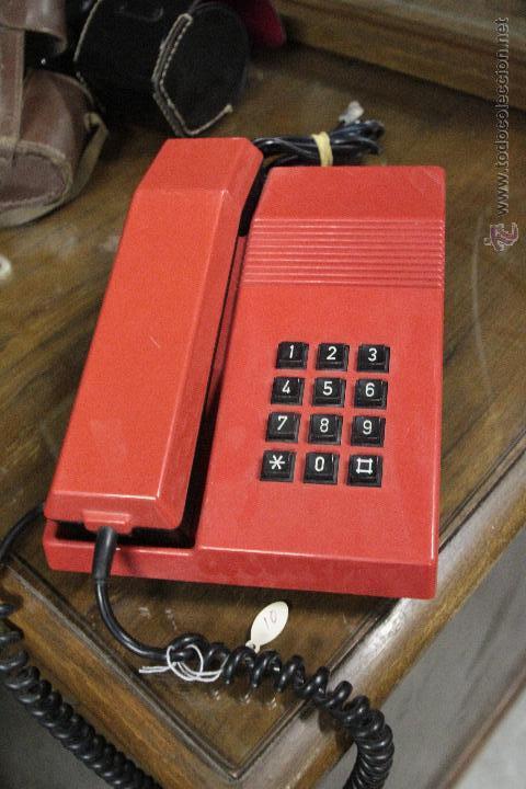 Teléfonos: TELEFONO TEIDE SOBREMESA ROJO NEGRO VINTAGE - Foto 3 - 52124042