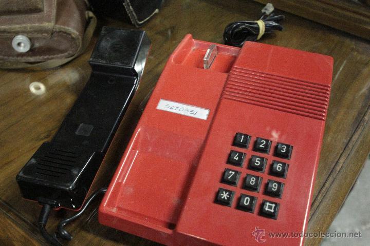 Teléfonos: TELEFONO TEIDE SOBREMESA ROJO NEGRO VINTAGE - Foto 4 - 52124042