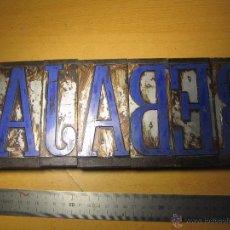 Antigüedades: IMPRENTA, GRABADO REBAJAS - TAMAÑO CM. LARGO 34X 12 DE ALTO. Lote 41055346