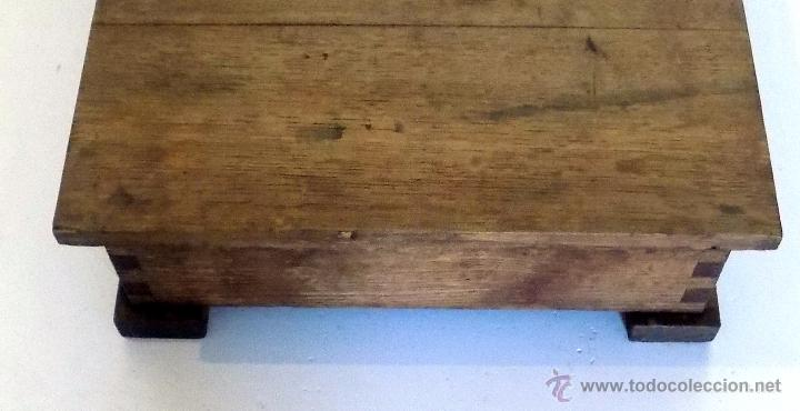 Antigüedades: bascula, 120 kg, francesa , ministerio de seguridad social, roble perfecto estado. - Foto 3 - 52137185