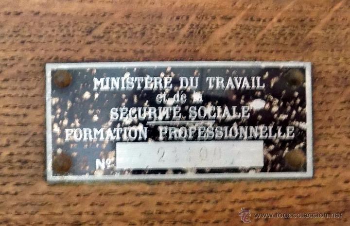 Antigüedades: bascula, 120 kg, francesa , ministerio de seguridad social, roble perfecto estado. - Foto 6 - 52137185