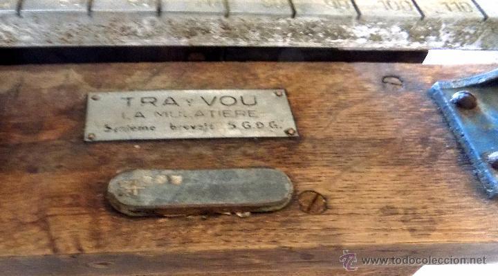Antigüedades: bascula, 120 kg, francesa , ministerio de seguridad social, roble perfecto estado. - Foto 7 - 52137185