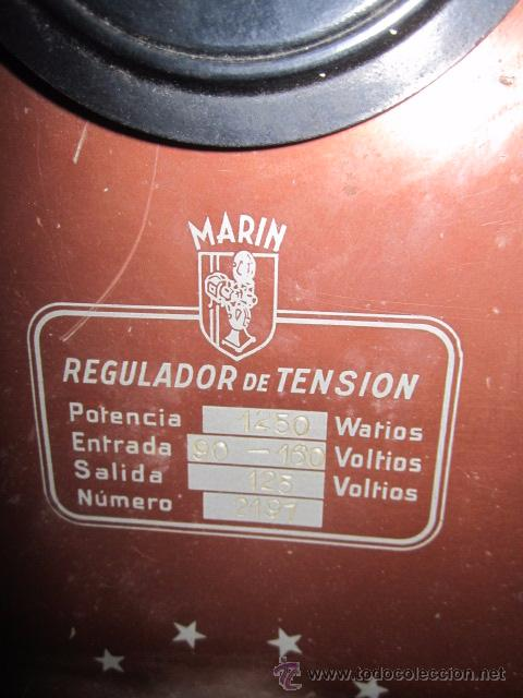 Antigüedades: Regulador de tensión Cinematografía Marin. 20 x 20 x 29 cms. de altura. - Foto 5 - 52170317