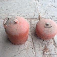 Antigüedades: 2 BOTELLAS DE BUTANO PARA SOLDADOR DE GAS . Lote 52324185