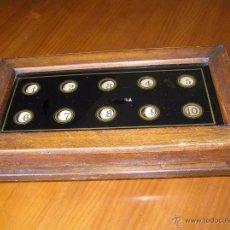 Antigüedades: ANTIGUO CUADRO INDICADOR DE LLAMADA DE 10 HABITACIONES O PUESTOS CUADRO DE CENTRALITA AVISADOR. Lote 52340117