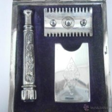 Antigüedades: MAQUINILLA DE AFEITAR MOND EXTRA 1910-1915 MUY RARA, COMPLETA Y PERFECTO ESTADO, SAFETY RAZOR. Lote 52380718