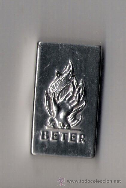CAJA METALICA PARA HOJAS DE AFEITAR **BETER** LETRAS REPUJADAS (Antigüedades - Técnicas - Barbería - Hojas de Afeitar Antiguas)