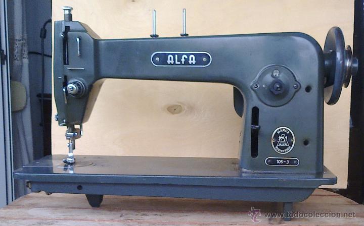 Maquina de coser alfa, mod. 105 industrial rota - Vendido