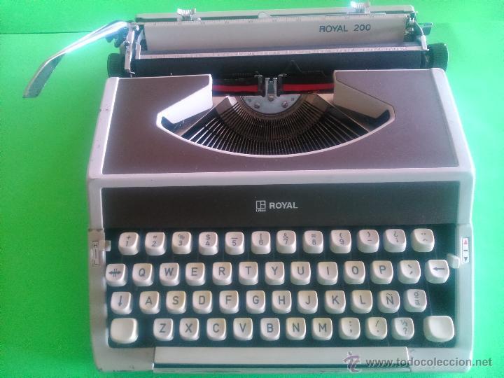 MÁQUINA DE ESCRIBIR ROYAL 200 (Antigüedades - Técnicas - Máquinas de Escribir Antiguas - Royal)