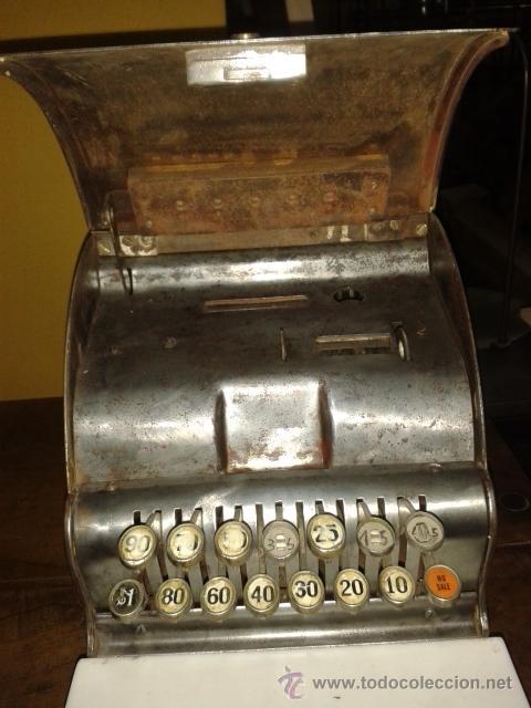 Antigüedades: Caja registradora national de pequño tamaño - Foto 4 - 52489932