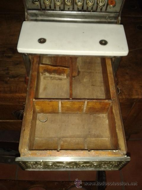 Antigüedades: Caja registradora national de pequño tamaño - Foto 5 - 52489932