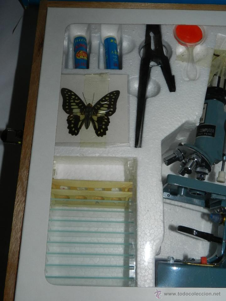 Antigüedades: Microscopio Scope 50 x 900, en su caja original, con maletín de madera, realmente completo, casi a e - Foto 5 - 52494743
