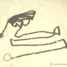 Antigüedades: METRO CADENA BALANZA DE BOLSILLO HERRAMIENTA TRATANTE DE GANADO S XIX. Lote 52499404