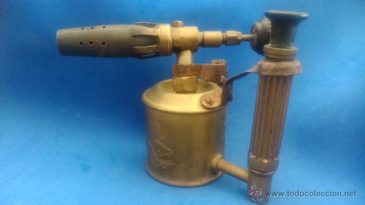 Antigüedades: LAMPARA DE SOLDAR - Foto 2 - 52500555