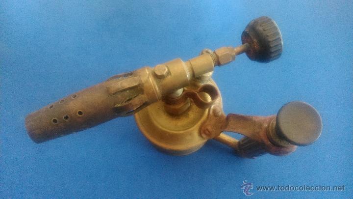 Antigüedades: LAMPARA DE SOLDAR - Foto 5 - 52500555